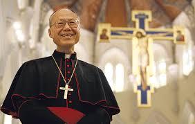 Cardinal John Tong in cathedral