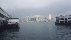 Facing Kowloon across Victoria Harbour