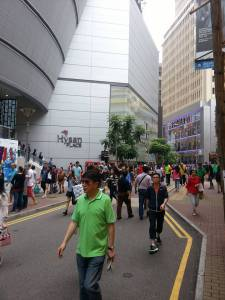Hysan Place mall and crowds every which way