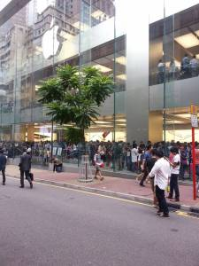 Our local Apple with 2 floors of massive lines