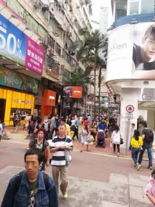 Saturday shopping in Causeway Bay