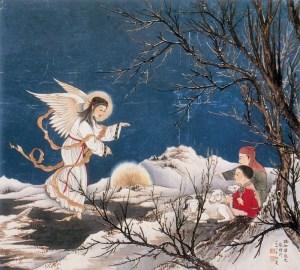 Angel to shepherds