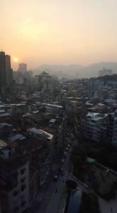 Hazy Macau sunset