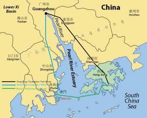 Pearl River Estuary map