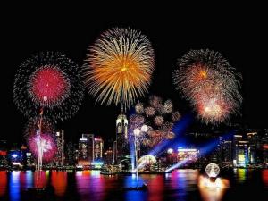 NYE Fireworks Hong Kong 1