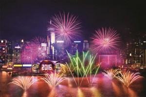 NYE Fireworks Hong Kong 2
