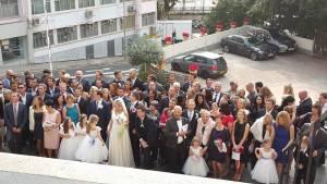 Wedding Everone one the steps