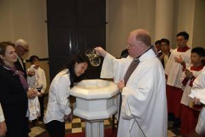Easter 2016 - Baptizing Nelsilya (Frances Xavier Cabrini)