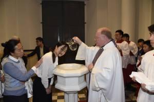 Easter 2016 - Baptizing Siwen (Matilda)