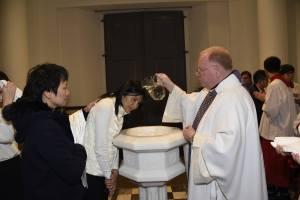 Easter 2016 - Baptizing Viola (Victoria)
