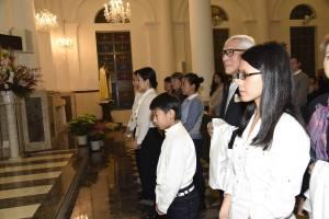 Easter 2016 - Calling foward candidates for Baptism