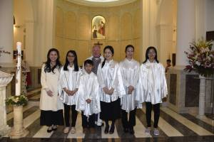 Easter 2016 - Photo with newly baptized