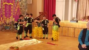 Lion Dancers preparing